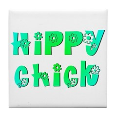Hippy Chick Tile Coaster