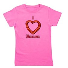 I Heart Bacon Girl's Tee