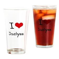 I Love Jaelynn Drinking Glass