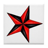 Nautical Star Tile Coaster