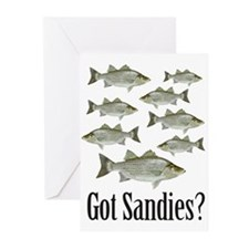 Unique White bass Greeting Cards (Pk of 10)