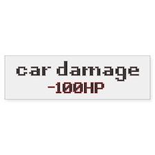 car damage hp (off white) bumper sticker
