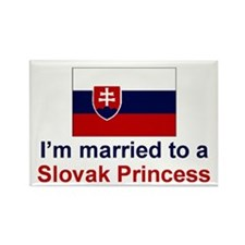 Married To A Slovak Princess Rectangle Magnet