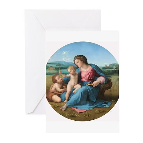 Raphael - The Alba Madonna Greeting Cards (Pk of 1