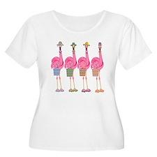 Snazzy Flamingos Plus Size T-Shirt