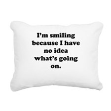 No Idea Whats Going On Rectangular Canvas Pillow