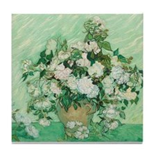 Vincent Van Gogh - Roses Tile Coaster
