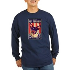 rat_terrier_usa_dark Long Sleeve T-Shirt