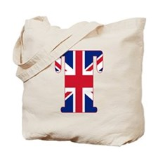 UNION JACK MONOGRAM Letter T Tote Bag