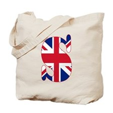 UNION JACK MONOGRAM Letter S Tote Bag