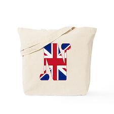 UNION JACK MONOGRAM Letter N Tote Bag