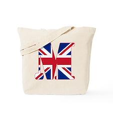 UNION JACK MONOGRAM Letter M Tote Bag