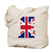 UNION JACK MONOGRAM Letter E Tote Bag