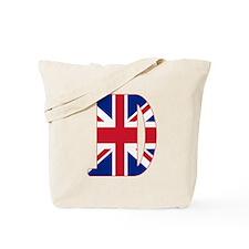 UNION JACK MONOGRAM Letter D Tote Bag