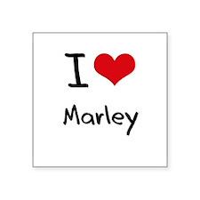 I Love Marley Sticker