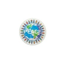 Peace Mini Buttons - BULK 10 pack (great buy)