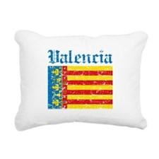 Valencia City Flag Rectangular Canvas Pillow