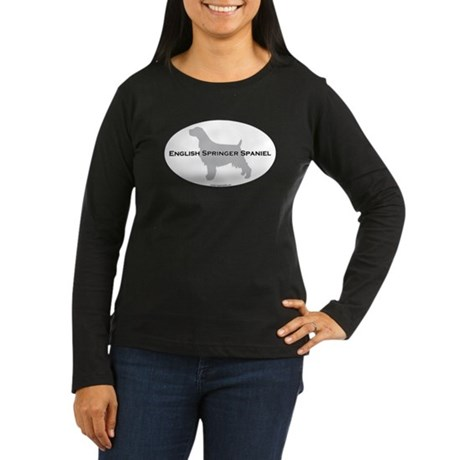 English Springer Spaniel Women's Long Sleeve Dark