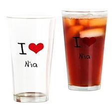 I Love Nia Drinking Glass