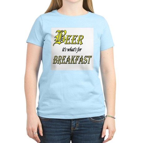 Breakfast Beer Women's Pink T-Shirt