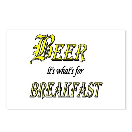 Breakfast Beer Postcards (Package of 8)