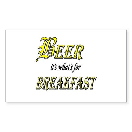 Breakfast Beer Rectangle Sticker