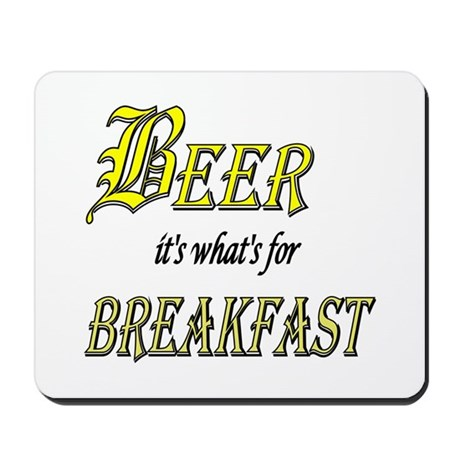 Breakfast Beer Mousepad