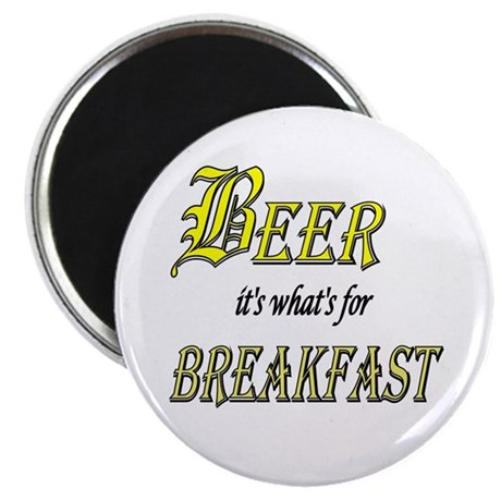 "Breakfast Beer 2.25"" Magnet (10 pack)"