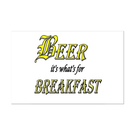 Breakfast Beer Mini Poster Print