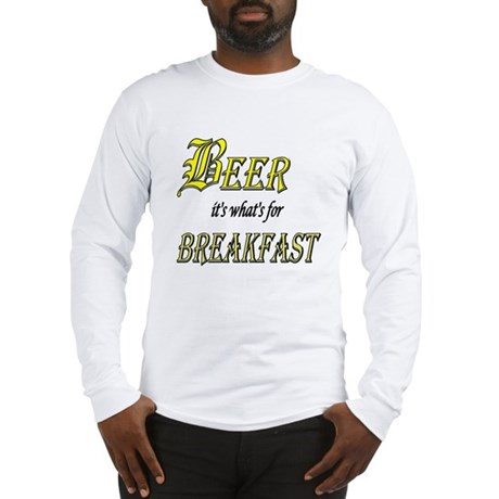 Breakfast Beer Long Sleeve T-Shirt