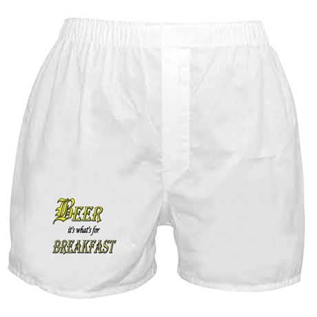 Breakfast Beer Boxer Shorts