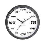 NOW Wall Clock (B/W)
