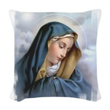 Our Lady of Sorrows Woven Throw Pillow