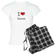 I Love Zariah Pajamas