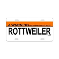 Cool Rottweiller Aluminum License Plate