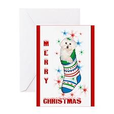 Bichon Christmas Card Greeting Card