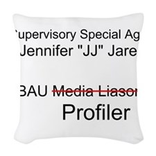 Jennifer JJ Jareau Woven Throw Pillow