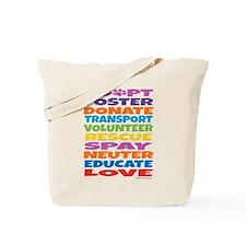 Adopt-Foster-Rescue Tote Bag