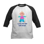 I LOVE POP POP GIRL Kids Baseball Jersey