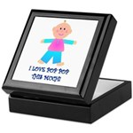 I LOVE POP POP GIRL Keepsake Box