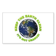 Keep the Earth Clean Rectangle Decal