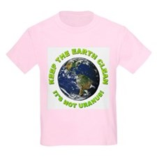Keep the Earth Clean (Front) Kids T-Shirt