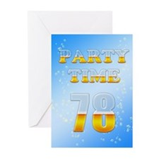 78th birthday party beer Greeting Cards (Pk of 10)