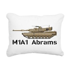 M1A1 Abrams MBT Rectangular Canvas Pillow