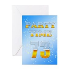 73rd birthday party beer Greeting Card