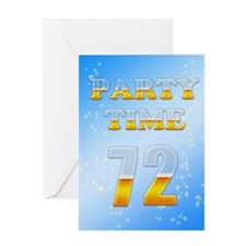 72nd birthday party beer Greeting Card