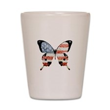 American Butterfly Shot Glass