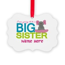 Personalized Elephant Big Sister Ornament