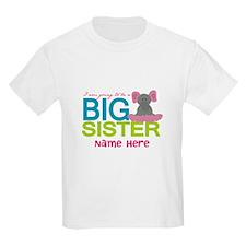 Personalized Elephant Big Sister T-Shirt