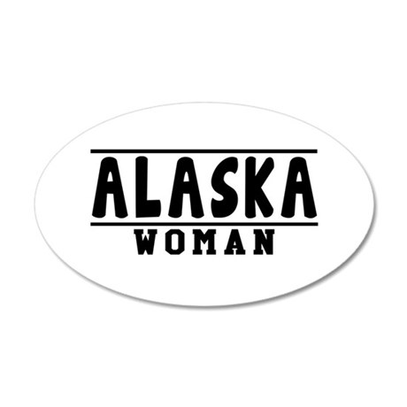 Alaska Woman Designs 35x21 Oval Wall Decal